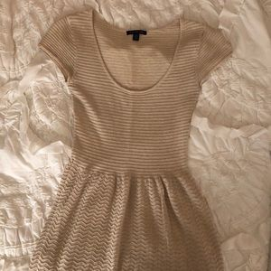 Dresses & Skirts - American Eagle sparkly gold/beige sweater dress